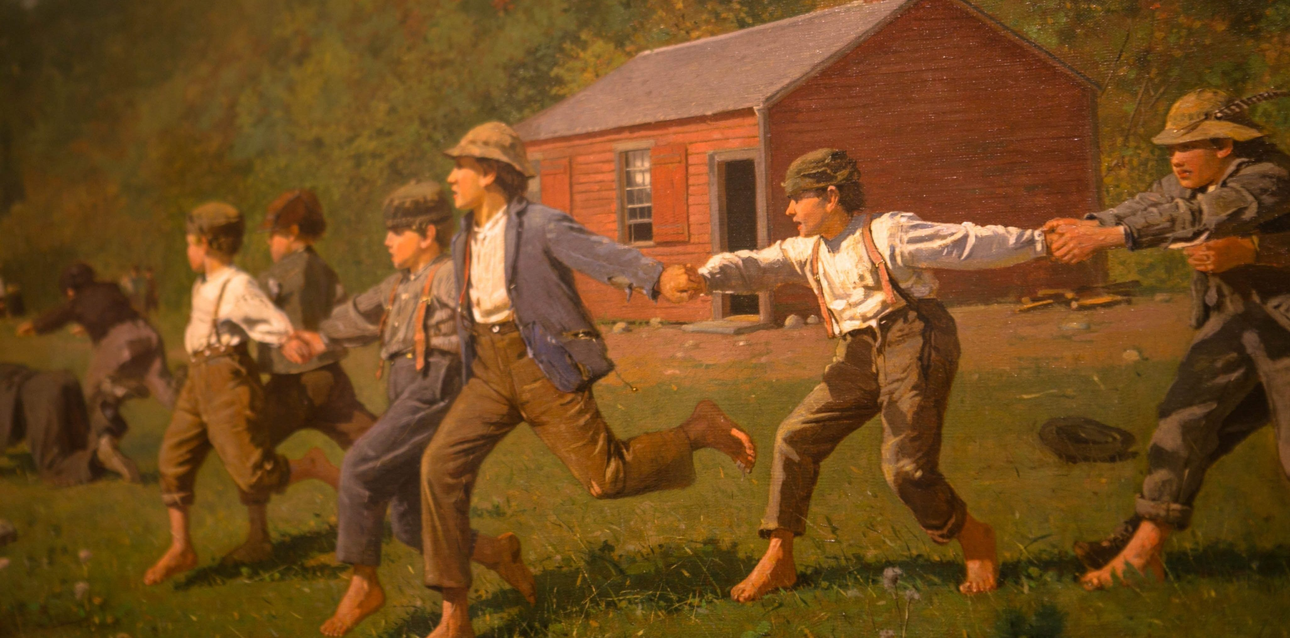 boys playing in the field